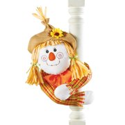Cute Fall Scarecrow with Straw Hat And Poseable Arms Decoration, Girl