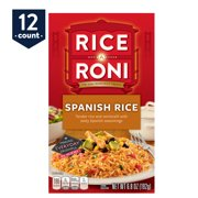 (12 Pack) Rice-A-Roni Rice & Vermicelli Mix, Spanish Rice, 6.8 oz Box