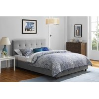DHP Rose Linen Tufted Upholstered Platform Bed, Button Tufted Headboard and Footboard with Wooden Slats, Multiple Colors, Multiple Sizes