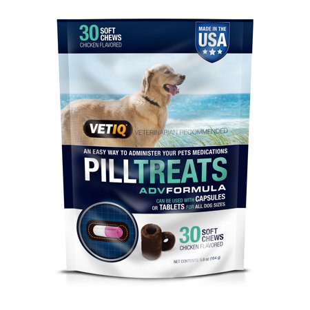 - VetIQ Chicken Flavored Pill Treats for Dogs, 30 Count