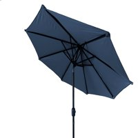 Trademark Innovations 10' Tilt Crank Market Patio Umbrella, Blue