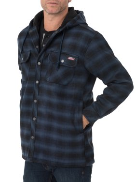 Dickies Big Men's Twill Polar Fleece Lined Shirt Jacket