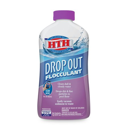 HTH Drop Out™ Flocculant for Swimming Pools, 1 (1 Quart Bouncer)