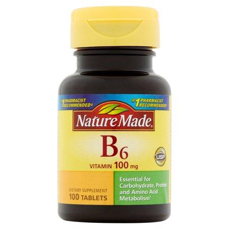 Nature Made B6 Vitamin, 100 mg, 100 count