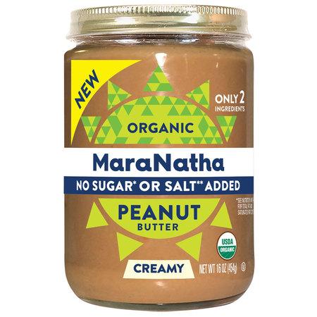 MaraNatha Organic Creamy Peanut Butter, No Sugar or Salt Added, 16 oz.