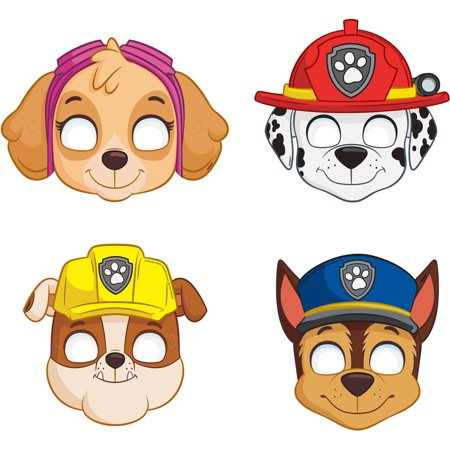 PAW Patrol Party Masks, 8ct - Paw Patrol Party Decorations