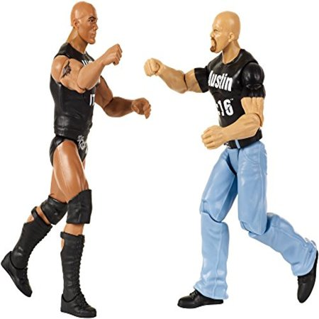 DXG92 WWE Tough Talkers The Rock & Steve Austin Figure, 6