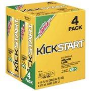 (6 Pack) Mountain Dew Kickstart Energizing Juice Beverage, Mango Lime, 16 Fl Oz, 4 Count