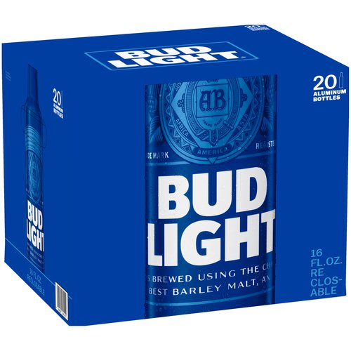 Bud Light Beer, 20 pack, 16 fl oz