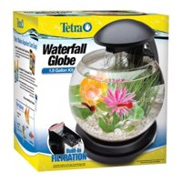 Tetra 1.8-Gallon Waterfall Globe Fish Tank Aquarium