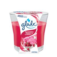 (2 Pack) Glade Candle, Blooming Peony & Cherry, 3.4 oz.