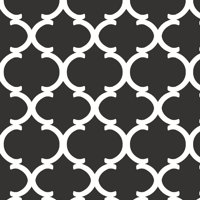 Waverly Inspirations Ogee Curl Black 100% Cotton Duck Fabric 54'' Wide, 220 Gsm, Quilt Crafts Cut By The Yard