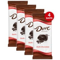 (4 pack) Dove Dark Chocolate Candy Bar, 3.30 Oz
