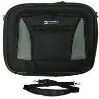 Acer Aspire V5-531-4636 Laptop Case Carry Handle & Adjustable Shoulder Strap - Black/Gray - Adjustable & Removable Interior Dividers