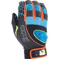 Franklin Sports MLB Youth Insanity Batting Glove, Black/Blue/Yellow