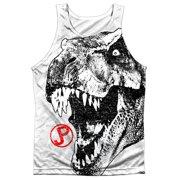 d476e5987e784 Jurassic Park T Rex Head Mens Sublimation Tank Top Shirt
