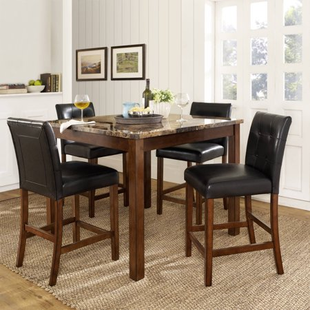 Maple Dining Table Chairs - Dorel Living Andover 5 Piece Counter Height Dining Set, Multiple Colors