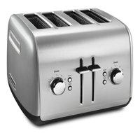 KitchenAid KMT4115CU 4-Slice Toaster with Manual High-Lift Lever, Contour Silverc