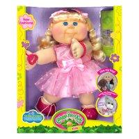 "Cabbage Patch Kids 14"" Blonde Kid Pink Heart Dress Fashion"