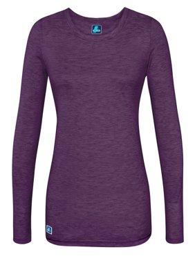 Adar Women's Comfort Long Sleeve T-Shirt Underscrub Tee, Style 3077