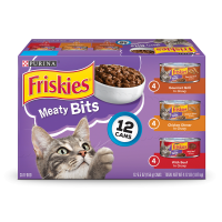 Friskies Meaty Bits Adult Wet Cat Food Variety Pack - (12) 5.5 oz. Cans