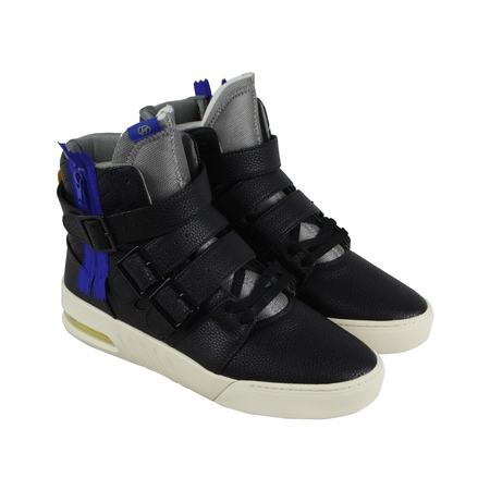 Radii Straight Jacket Plus Mens Black Leather High Top Sneakers Shoes