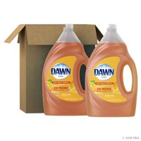 Dawn Ultra Antibacterial Hand Soap, Dishwashing Liquid Dish Soap, Orange Scent, 2 count, 56 fl oz each