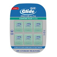 (Pack of 6) Oral-B Glide Pro-Health Mint Comfort Plus Floss 43.7 Yd