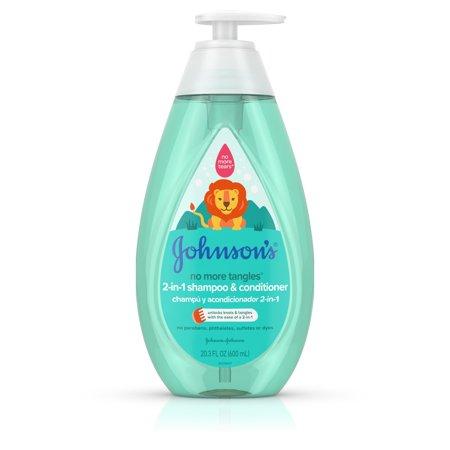 Kids Self Foaming Shampoo - Johnson's Detangling 2-in-1 Kids Shampoo & Conditioner, 20.3 fl oz