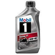 (6 Pack) Mobil 1 10W-40 Full Synthetic Motorcycle Oil, 1 qt.