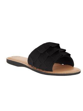 Wonder Nation Girls' Ruffle Sandal