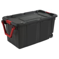 Sterilite 40 Gal./151 L Wheeled Industrial Tote, Black (Available in a Case of 2 or Single Unit)