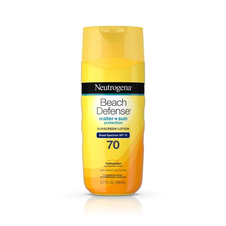 Neutrogena Beach Defense Body Sunscreen Lotion with SPF 70, 6.7 (Best Biodegradable Sunscreens)