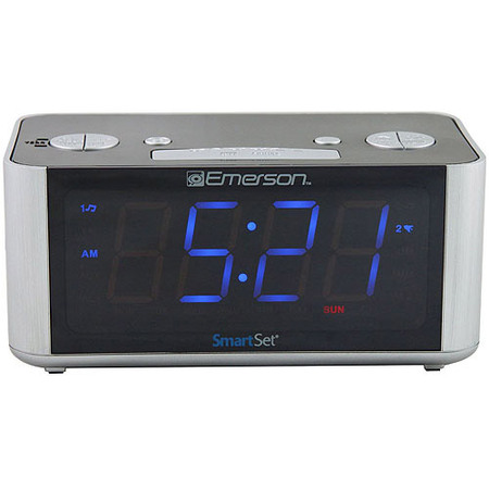 Emerson SmartSet Radio Alarm Clock LED -