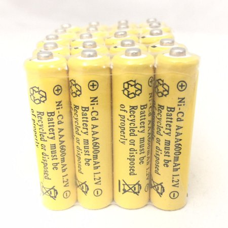 20 pcs Rechargeable NiCd AAA 600mAh Ni-Cad Batteries for Solar-Powered Light