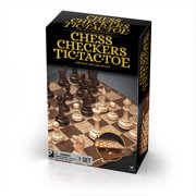 Classic Chess Checkers and Tic-Tac-Toe Set