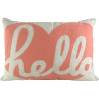 Better Homes and Gardens Hello Heart Crewelwork Decorative Throw Pillow