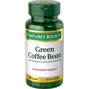 Nature's Bounty Green Coffee Bean with Raspberry Ketones & Green Tea Dietary Supplement Ctules, 60
