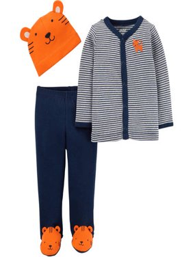 Child of Mine by Carter's Newborn Baby Boy Cap, Cardigan and Foot Pant Set-3 Pieces