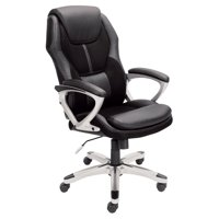 Serta Executive Office Chair, Puresoft Faux Leather with Mesh, Black