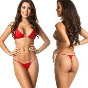 f8102097529f7 Women's Coqueta Swimwear Brazilian Triangle Top Bottom set Teeny Micro  Thong Mini Bikini Swimsuit G String