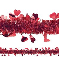Amscan Valentine Day Tinsel & Foil Hearts Garland Hanging Decoration 1 Piece