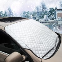 Car Cover All-seasons Windshield Waterproof Cover & Sun Shade UV Protector Cover with Cotton Thicker, Universal Car Cover for Auto SUV Small Car, 57.87(width) X 40.16(height)