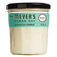 Mrs. Meyer's Clean Day Scented Soy Candle, Basil, Candle, 4.9 ounce