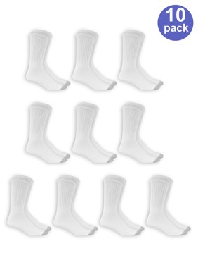 Men's Big and Tall Crew Socks 10 Pack