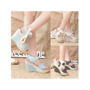 8b84925c511 Fashion Women Peep Toe Sandals High Wedge Heels Strappy Pumps Platform Sexy  Party Shoes