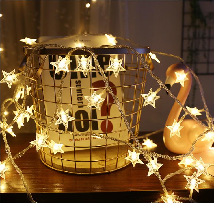 Star String Lights,LED Twinkle Lights(19.68FT)40 LED Indoor Fairy Lights