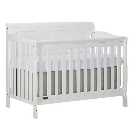 Slumber Baby Ashton Full Panel Convertible 5 in 1 Crib, White