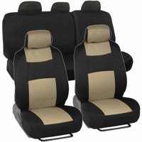 BDK Car Seat Covers 9-Piece Polyester Cloth 2 Front and 60/40 Split Rear Bench