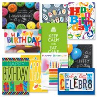 Big Words Birthday Cards Value Pack - Set of 20 (2 of each design)